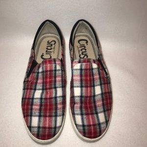 Circus by Sam Edelman Size 10M Red Plaid Sneakers.
